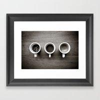 Coffee V. Framed Art Print