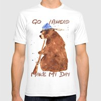 Bear Painting, Bear With… Mens Fitted Tee White SMALL