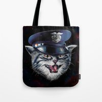 Police Cat Tote Bag