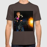 gatling girl Mens Fitted Tee Brown SMALL