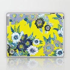 Floral pattern in Neon yellow Laptop & iPad Skin