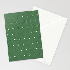 Geo Triangles Avacado Stationery Cards