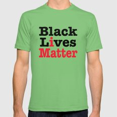 BLACK LIVES MATTER Mens Fitted Tee Grass SMALL