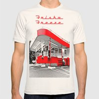 Classic American Drive-Thru Mens Fitted Tee Natural SMALL
