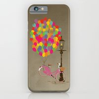 iPhone & iPod Case featuring Love to Ride my Bike with Balloons even if it's not practical. by Wyatt Design