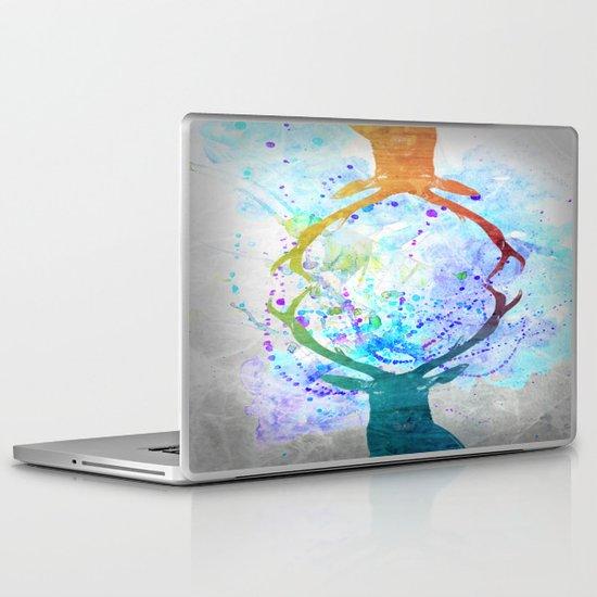 watercolor deer Laptop & iPad Skin