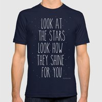 Look How They Shine For … Mens Fitted Tee Navy SMALL