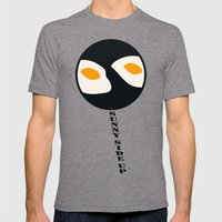 Fried Eggs Mens Fitted Tee Tri-Grey SMALL