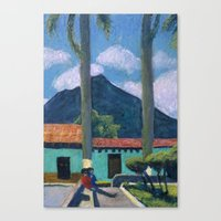 Antigua Park Bench Canvas Print