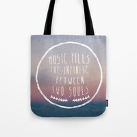I. Music fills the infinite Tote Bag