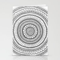 Carousel In B&W Stationery Cards