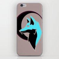 Night Fox with Moon iPhone & iPod Skin
