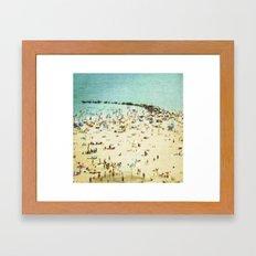 Coney Island Beach 2 Framed Art Print