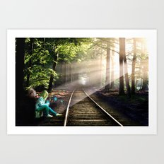 Dream Line Art Print