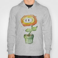 Fireflower Mario Watercolor Hoody