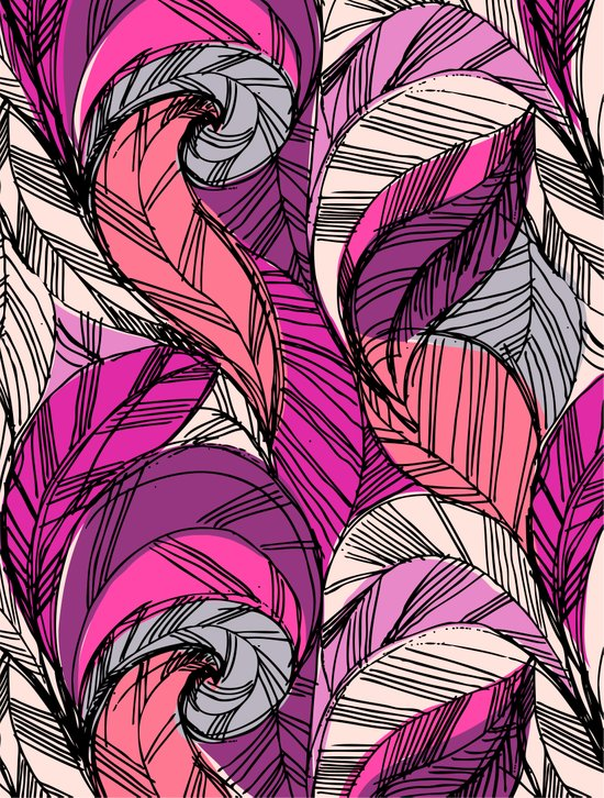 Striped_Peacock_Pink Art Print