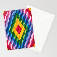 Rainbow Geometry Stationery Cards