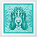 The Aquatic Basset Art Print