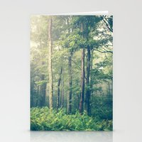 green Stationery Cards featuring Inner Peace by Olivia Joy StClaire
