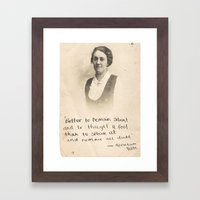 The Quote and the Photograph Framed Art Print