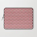 triangles - red and white Laptop Sleeve