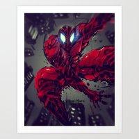 Spiderman Cyber Evolutio… Art Print