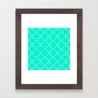Moroccan Aqua Framed Art Print