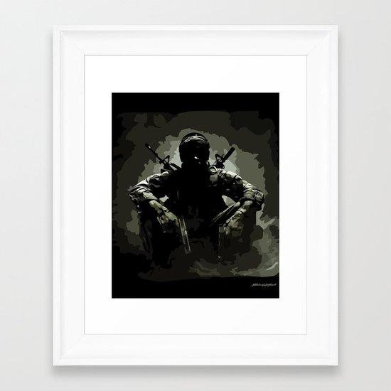 Call of Duty Camo Framed Art Print