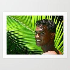 Hawaiian Smile Art Print