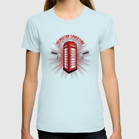 Inspector Spacetime Womens Fitted Tee Light Blue SMALL