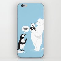 How Little Pandas Are Bo… iPhone & iPod Skin