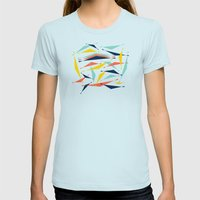 Swizzle Stick - Party Gi… Womens Fitted Tee Light Blue SMALL