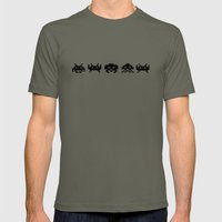Space Invaders Mens Fitted Tee Lieutenant SMALL