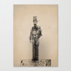 American Blueprint Canvas Print