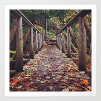 Today will be awesome, I said. And then - with a little help from autumn - I made it awesome. Art Print