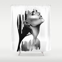 Paint Rain Shower Curtain