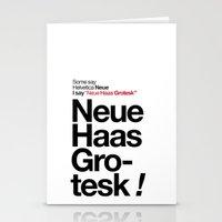 Helvetica Neue / Neue Ha… Stationery Cards