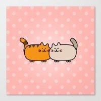 Romantic Cats Canvas Print