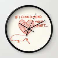 Mend Your Heart Wall Clock