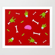 Art Print featuring Zombie Apocalypse by Designs By Misty Blu…