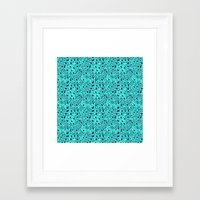 Turquoise and Blue  Framed Art Print