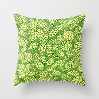 Floral Hops Throw Pillow