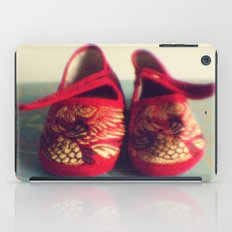 Two red shoes iPad Case