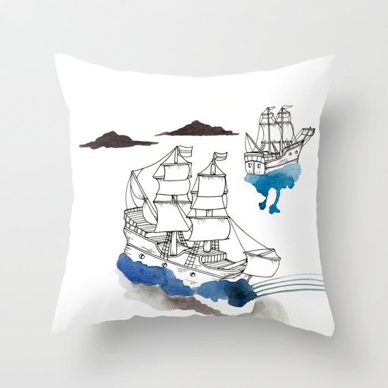 Two Lives Throw Pillow