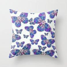 Mandala Butterfly Collag… Throw Pillow