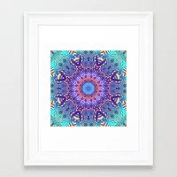 Kaleidoscope Pattern In … Framed Art Print