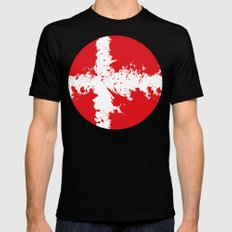 in to the sky, Denmark  Black SMALL Mens Fitted Tee
