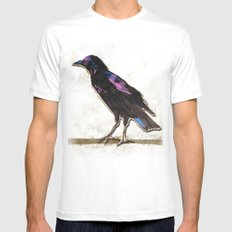 Blackbird White SMALL Mens Fitted Tee