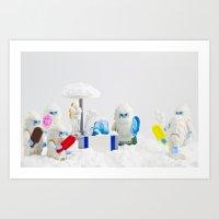 Yeti Freeze Scream Art Print