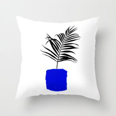 Blue Pot Throw Pillow